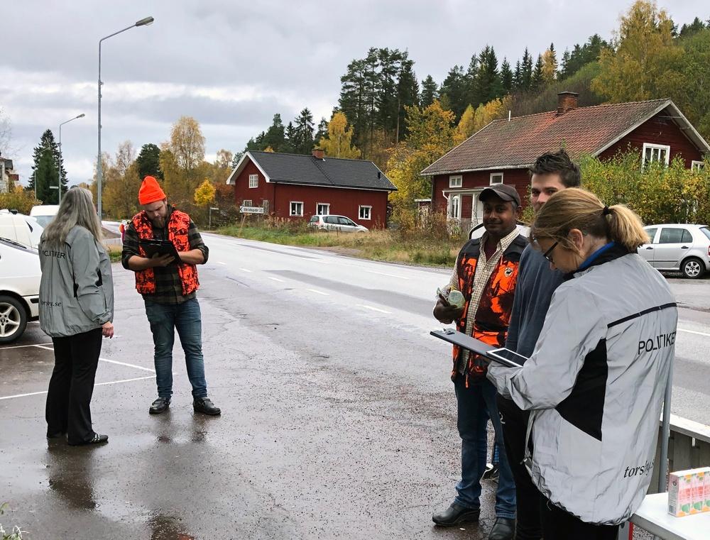 Vision Torsby 2040-arbete. Medborgardialog i Ambjörby, hösten 2020. Foto: Sara Johansson.