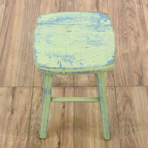 shabby chic distressed stool loveseat vintage furniture. Black Bedroom Furniture Sets. Home Design Ideas