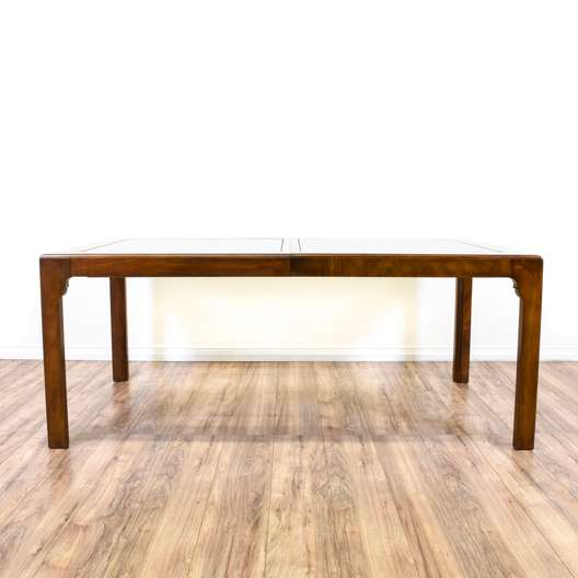 """""""Drexel Heritage"""" Glass Top Dining Table w/ Leaves"""