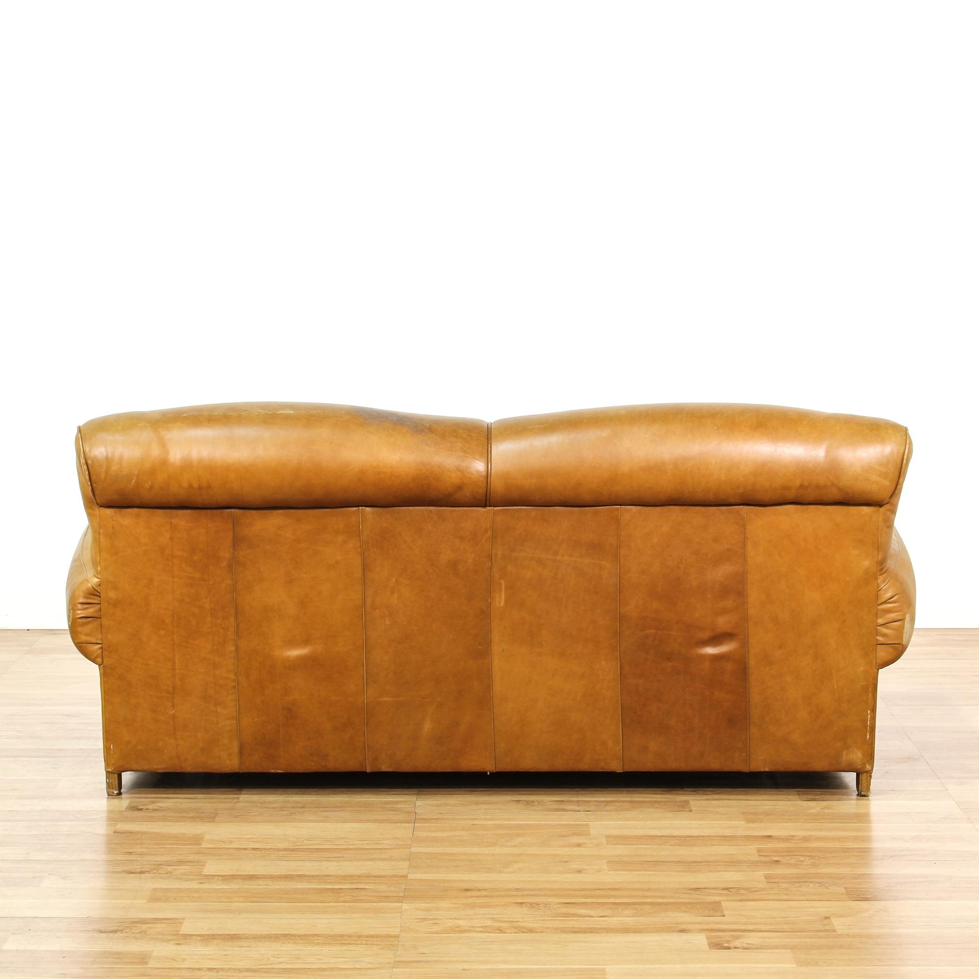 Leather Upholstered Sleeper Sofa Loveseat Vintage