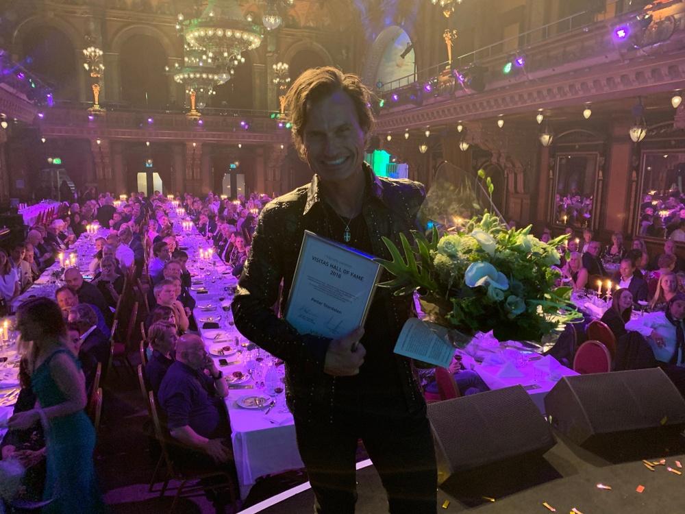 Petter Stordalen invald i Visitas Hall of Fame. Foto: Visita