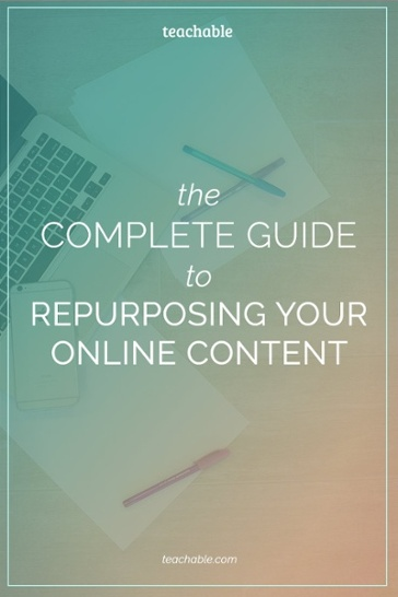 Repurposing your online content helps free up time so you can focus on other areas within your business. And believe it or not - any content that you've already created can be repurposed! In this post, we're sharing 40 DIFFERENT ways you can reuse your content to maximize your time and help you grow your audience faster. You know you want to read it!