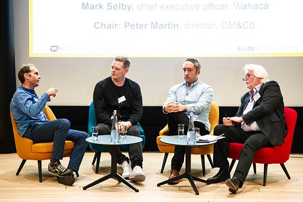 From left: Mark Selby, JJ Goodman, Matt Grech-Smith and Peter Martin
