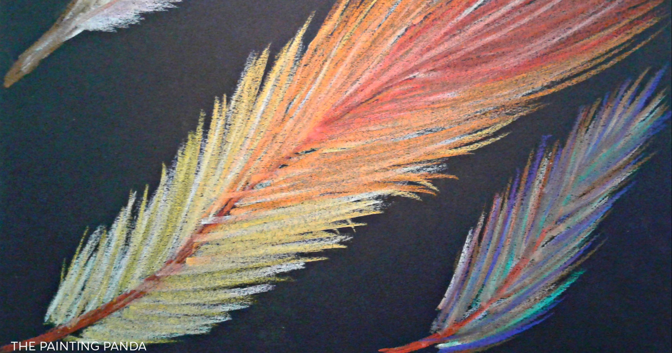Chalk Pastel Feathers by The Painting Panda   Small Online Class for Ages  4-9   Outschool