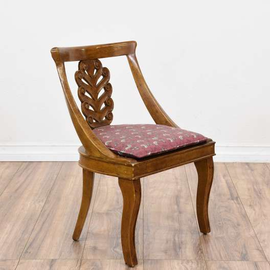 Small Carved Walnut Chair