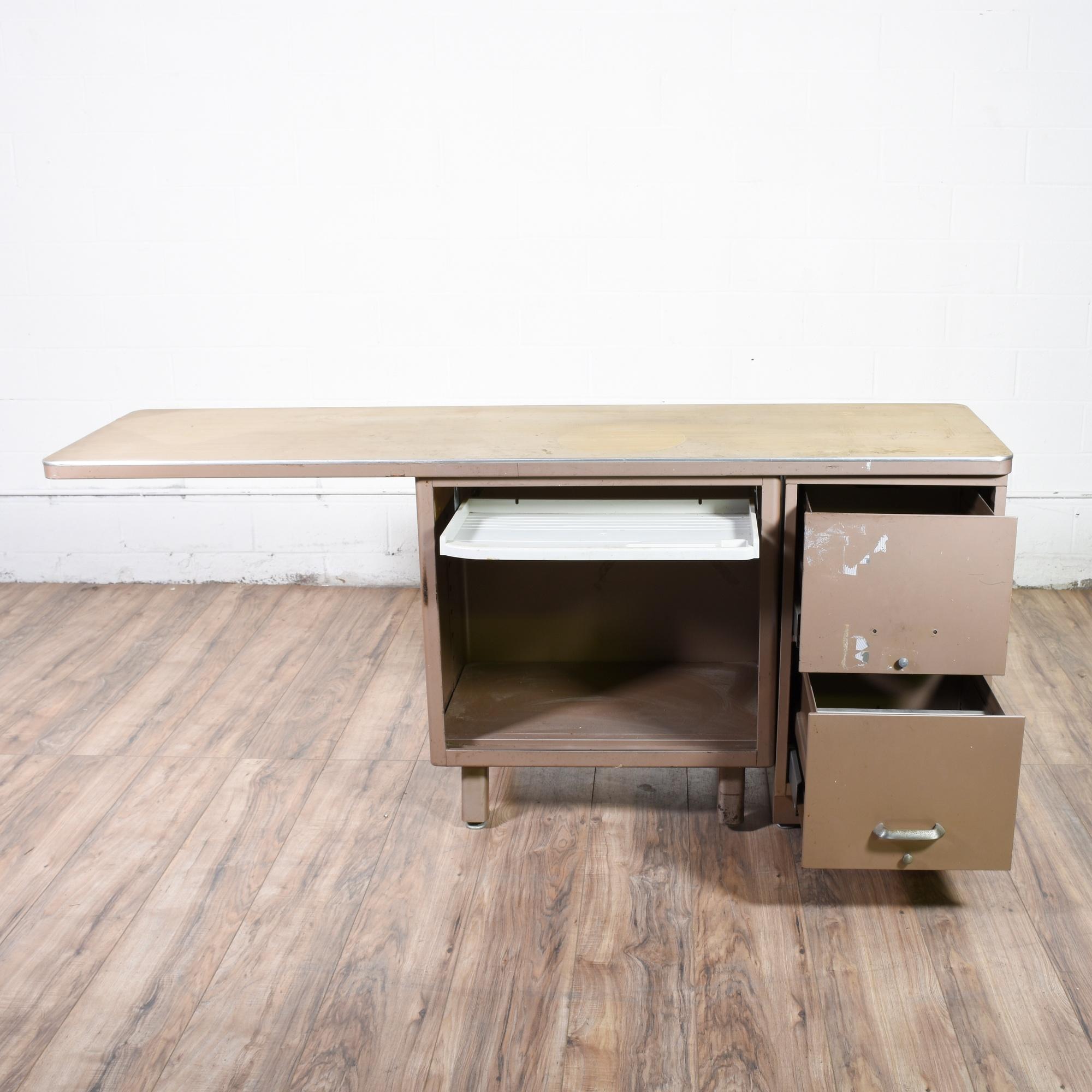 large industrial metal desk loveseat vintage furniture san diego los angeles. Black Bedroom Furniture Sets. Home Design Ideas