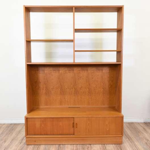 """Hundevad"" Danish Modern Bookcase Cabinet"