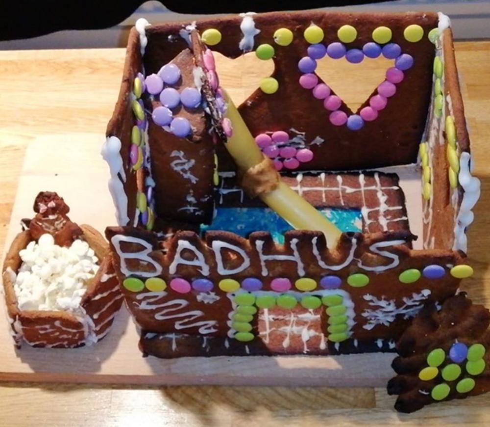 Vinnare i årets instagramtävling. Bagare: Kimon och Olof Tetsios. Ett härligt badhus komplett med heta bad och rutschkana för att det är HETT att vara på badhuset när det är ruggigt och kallt på vintern. Cred: Bagarna.