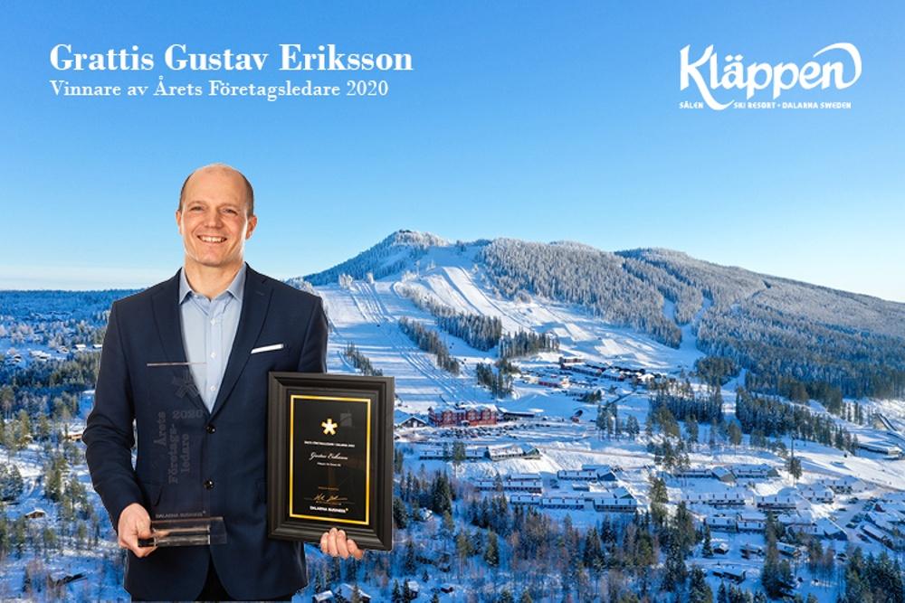 Gustav Eriksson - Vinnare av Årets Företagsledare 2020.