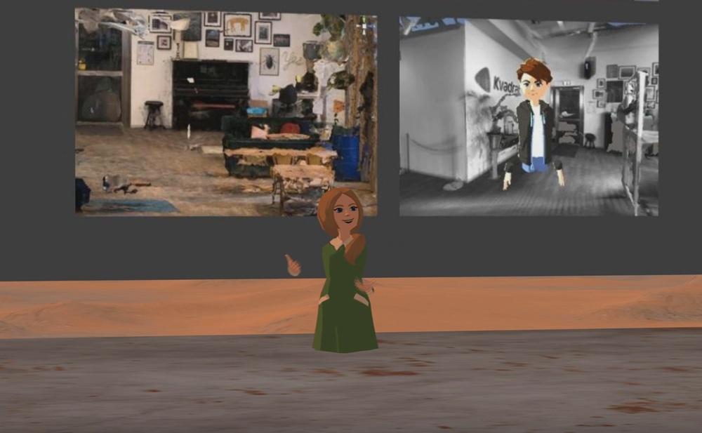 Kvadrats scen på Mars - Maria Hellström bjuder in till eftermingel på Kvadrats kontor i VR.