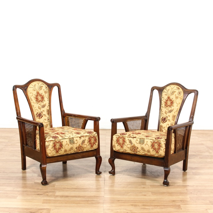 Carved victorian side chair loveseat vintage furniture for Victorian furniture los angeles
