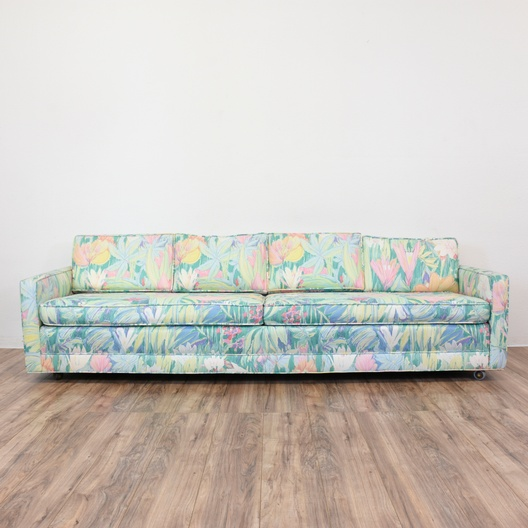 80 Best Online Furniture Stores: Tropical 80's Neon Floral Sofa