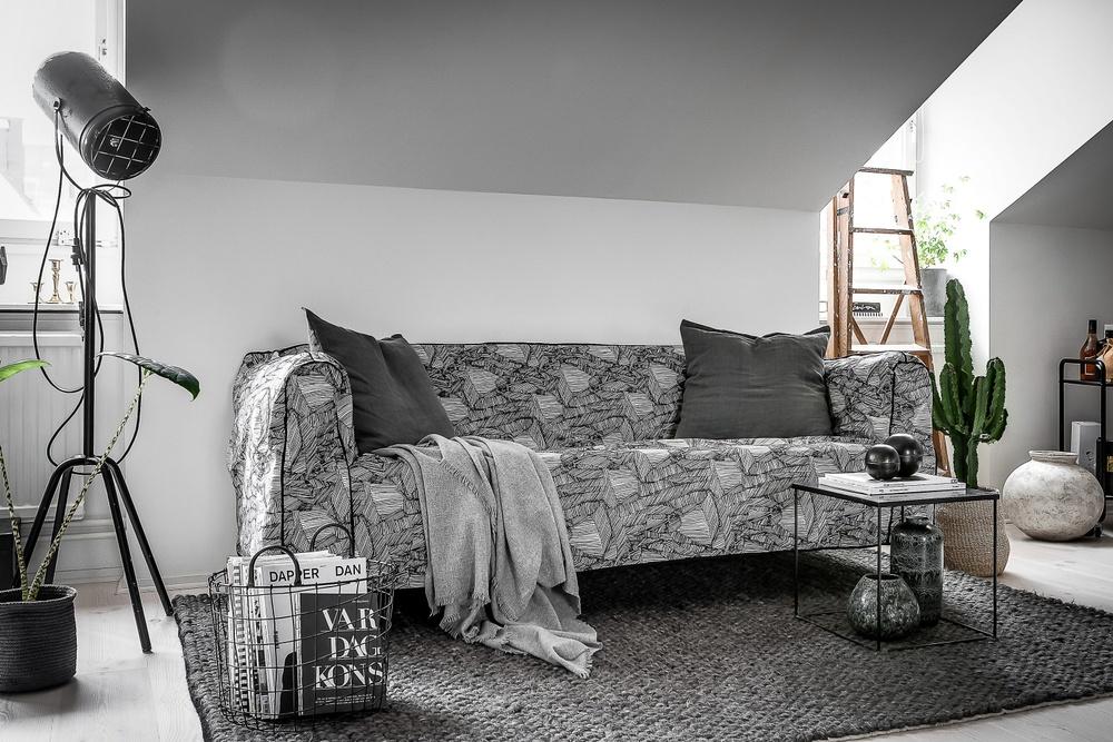 Bemz x Tom Dixon cover for IKEA Delaktig. Fabric: Superrock Natural/Black.  Photo & styling: Henrik Nero