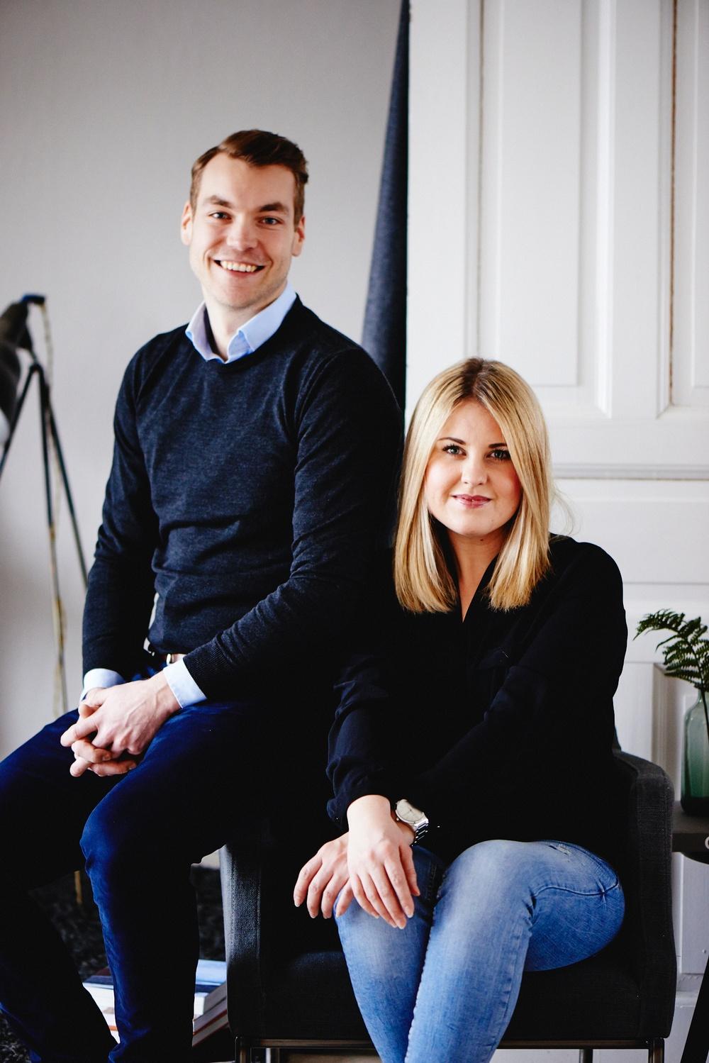 Simon Werner Zankl och Annie Grönblad, grundare av Trustcruit