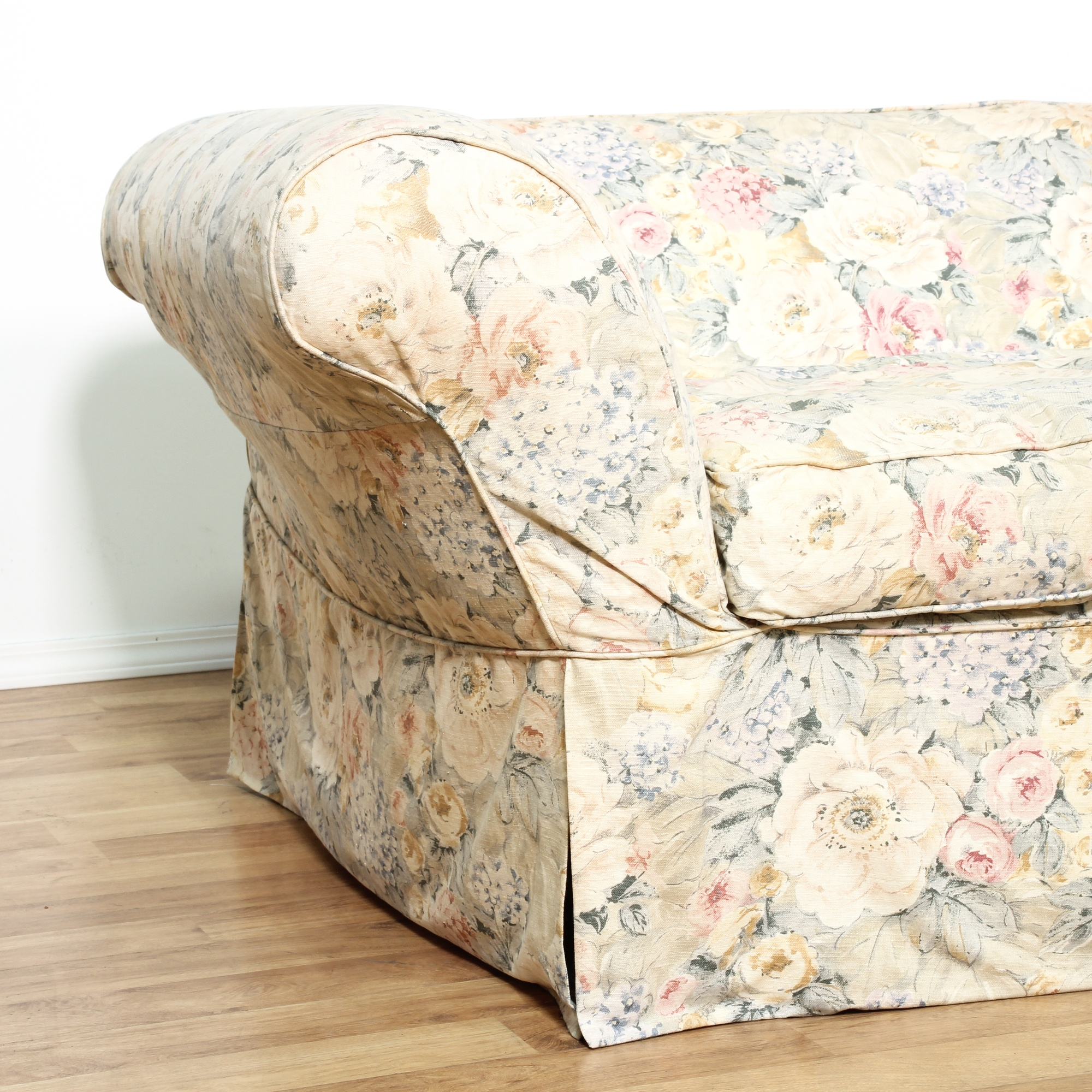 Shabby chic floral chair and ottoman loveseat vintage furniture san diego amp los angeles