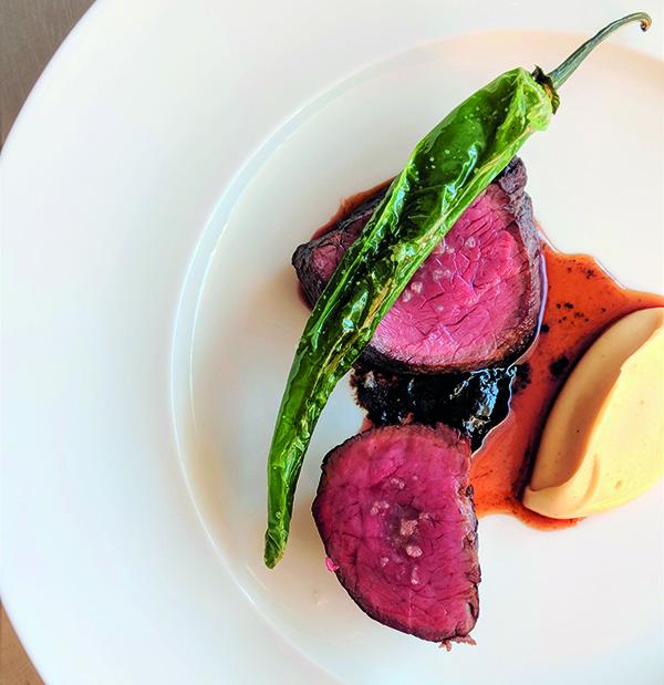 Land: beef with pepper, cauliflower, cardamom jus