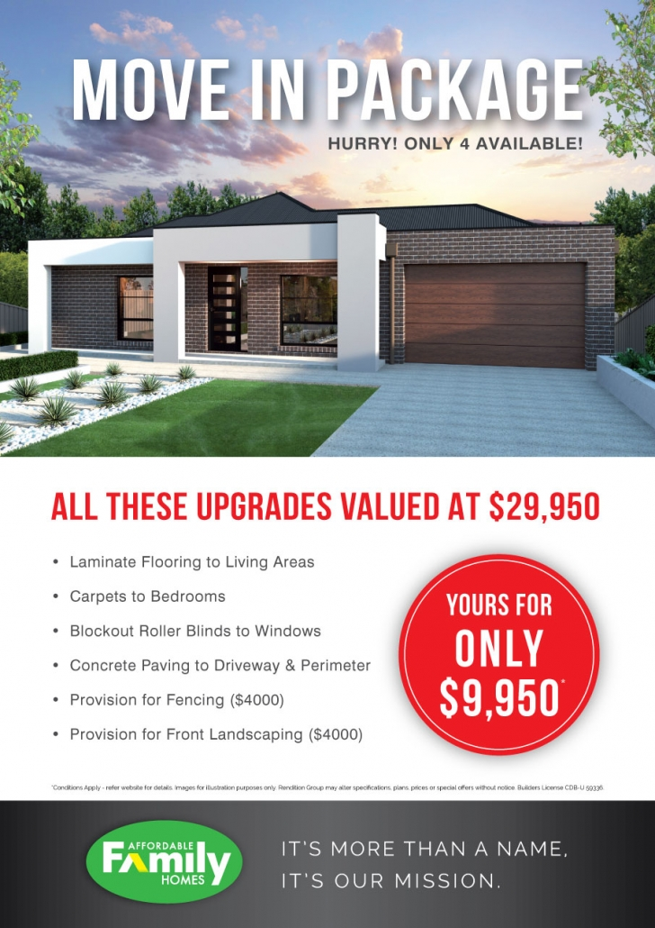 Move In Package Yours For Only $9,950!*
