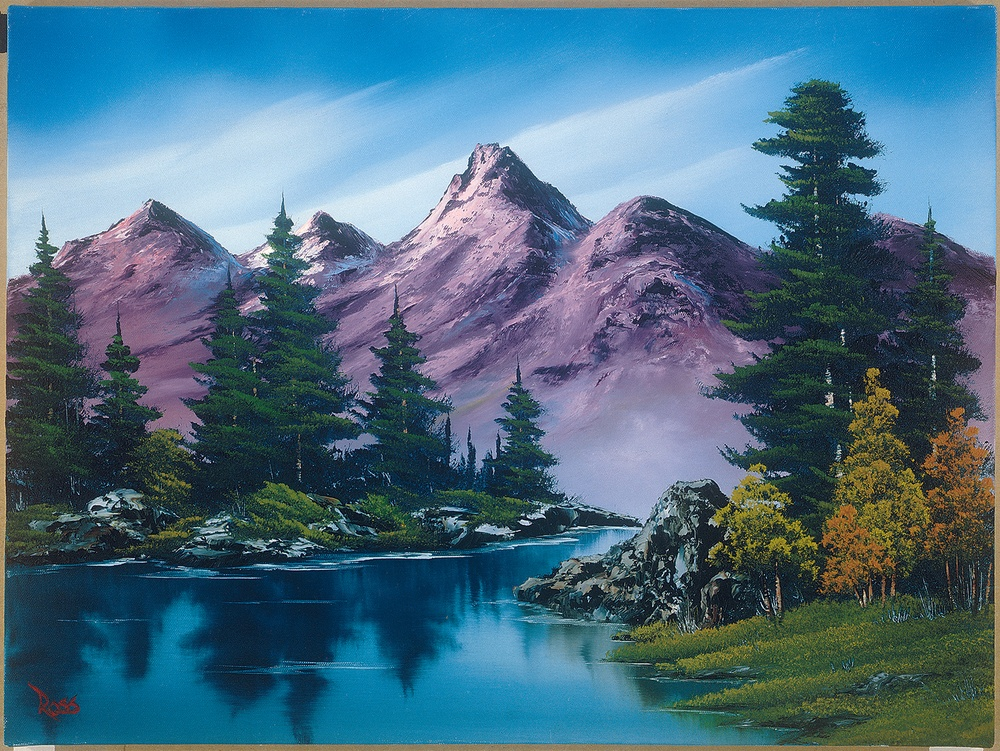 Bob Ross Purple Mountain Range