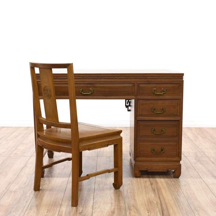 Writing Desk Vanity Sewing Table  Loveseat Vintage -6226