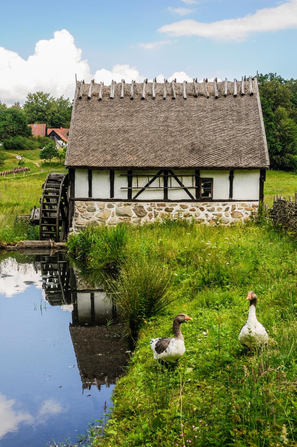 Vid dammen bor Skånegässen, och här ligger också vattenkvarnen. Foto: Viveca Ohlsson, Kulturen