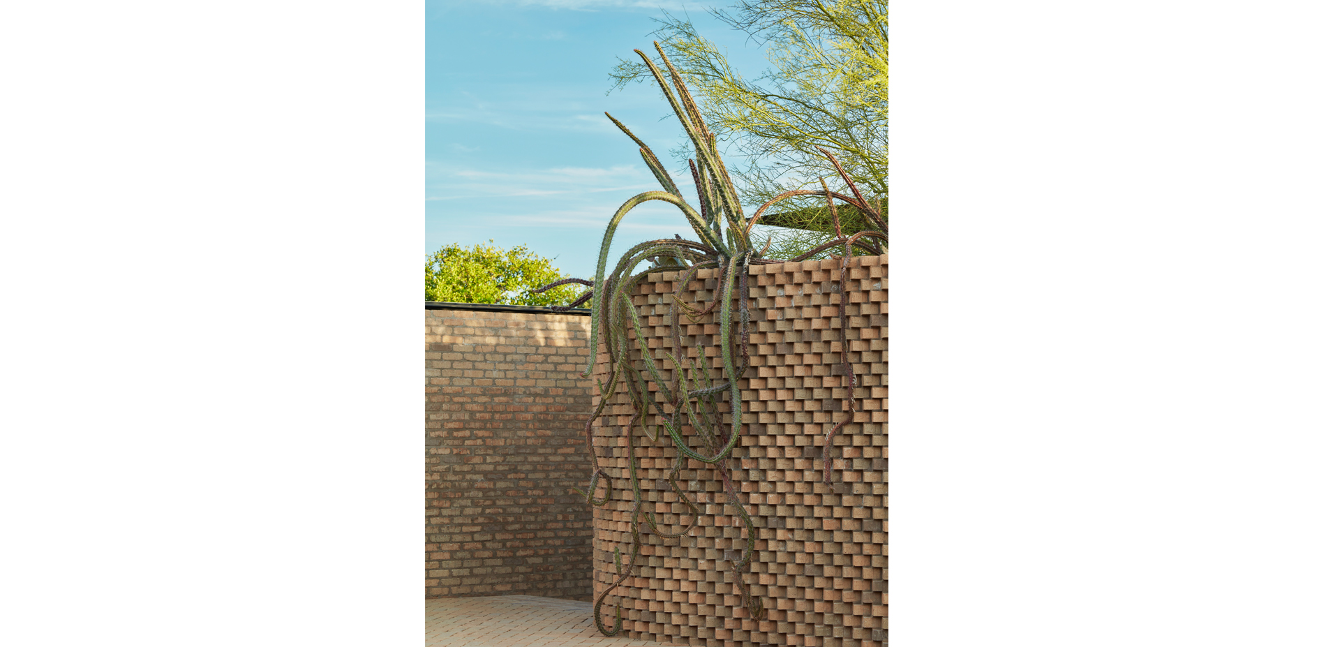 Entry Court Planter Wall