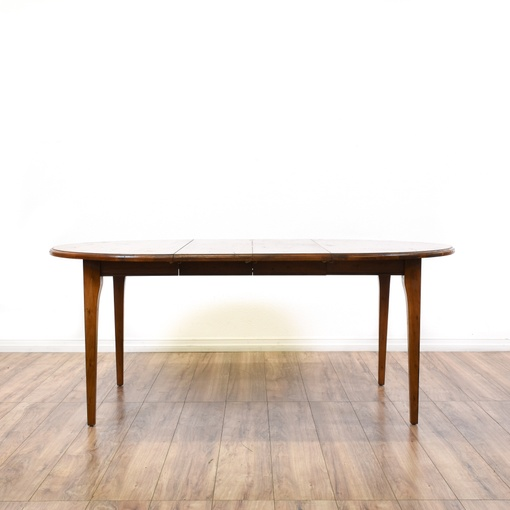 Round Rustic Style Dining Table W 2 Leaves Loveseat