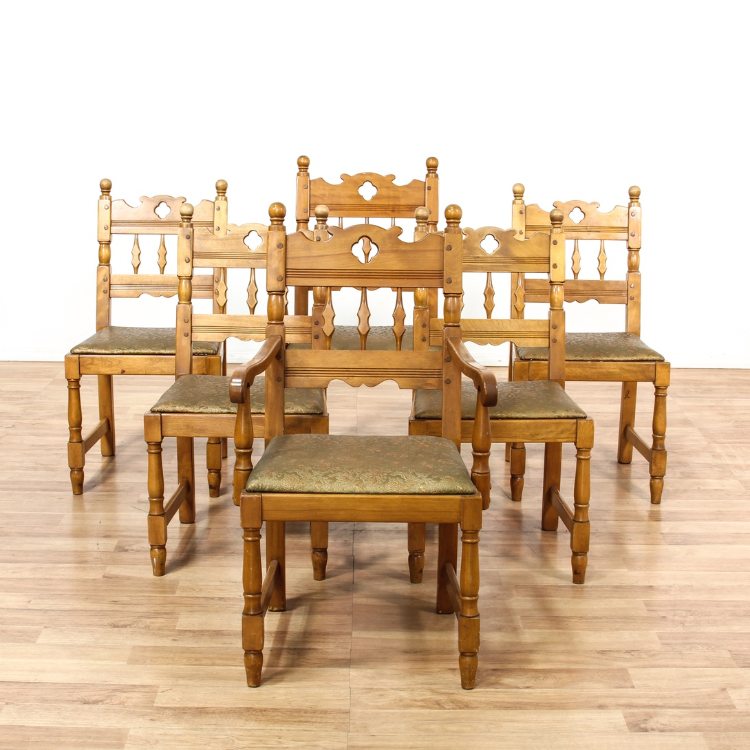 Dining Room Chairs San Diego: 6 California Farmhouse Upholstered Dining Chairs