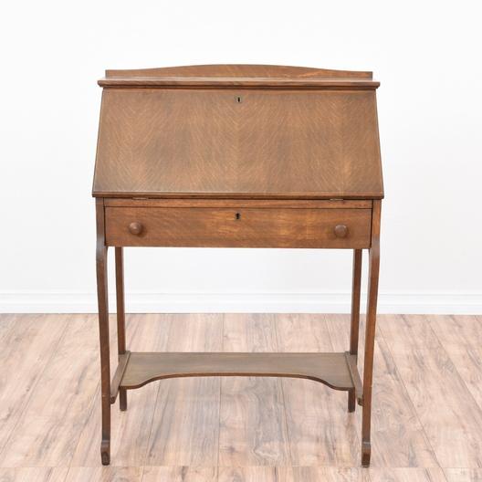 Vintage Secretary Desk >> Antique Tiger Oak Secretary Desk Loveseat Com San Diego