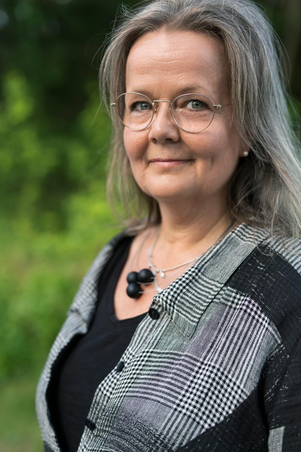 Åsa Lindström Öberg, medverkar i Tåmefursten, på Berättarfestivalen 2020. Foto: Jonas Westling.