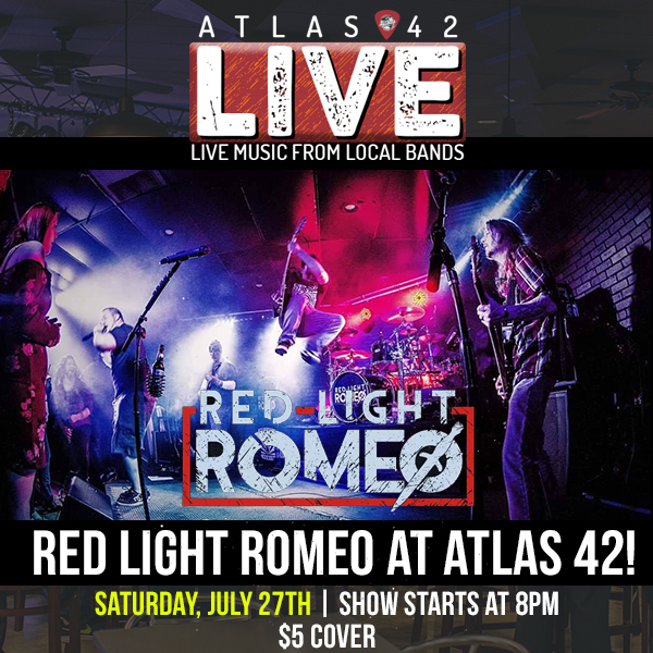 Atlas 42 - Red Light Romeo - July 27, 2019, 8pm
