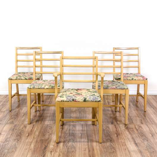"Set of 5 ""Graddock Furniture"" Mid Century Chairs"