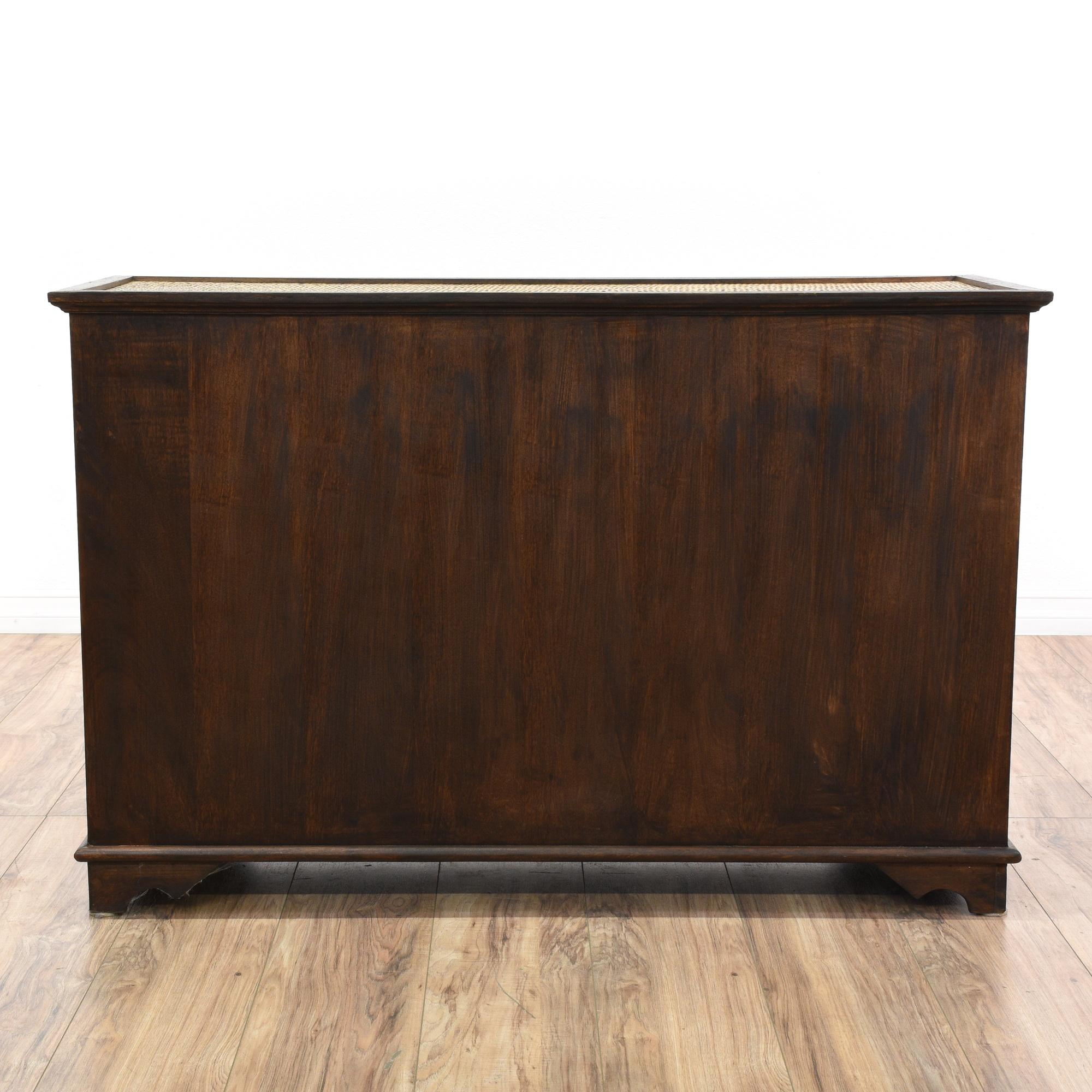 Wood Rattan Dresser Buffet Sideboard Loveseat Vintage