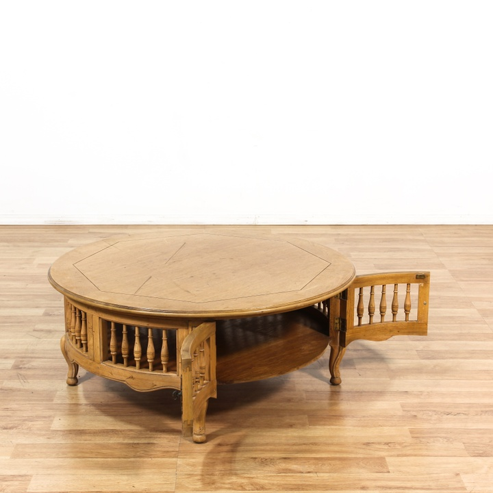 Large French Coffee Table: Large Round French Provincial Coffee Table