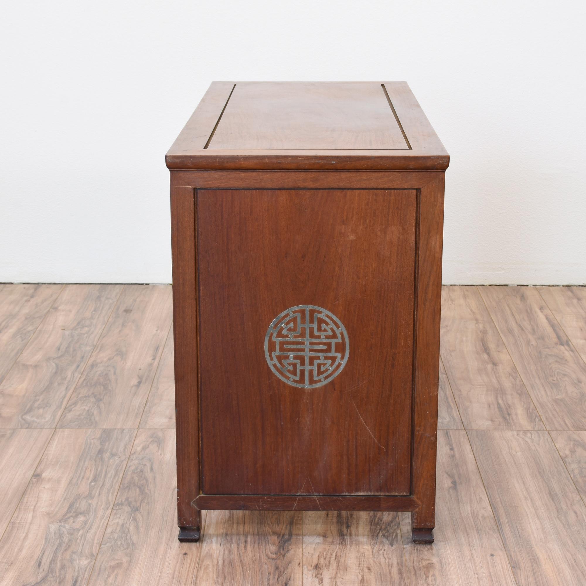 Oriental rosewood desk loveseat vintage furniture san for Japanese furniture san diego