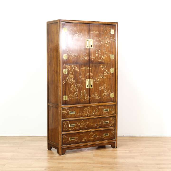 magnificent wicker armoire