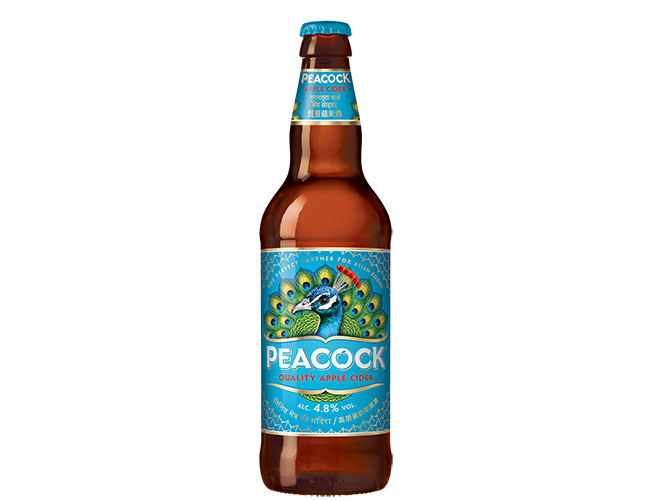 Peacock cider