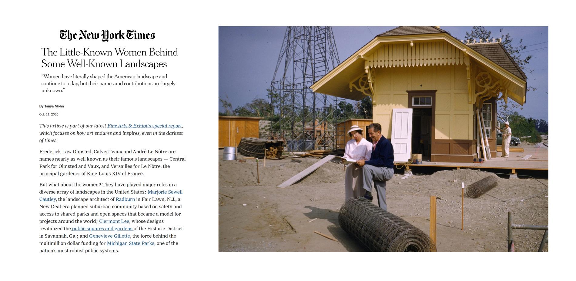Landslide 2020: Women Take the Lead - Landslide 2020 Screen grab of New York Times coverage