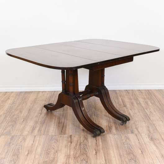 Duncan Phyfe Style Drop Leaf Dining Table