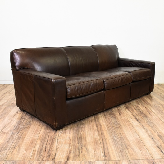 Quot Restoration Hardware Quot Maxwell Leather Sofa Loveseat