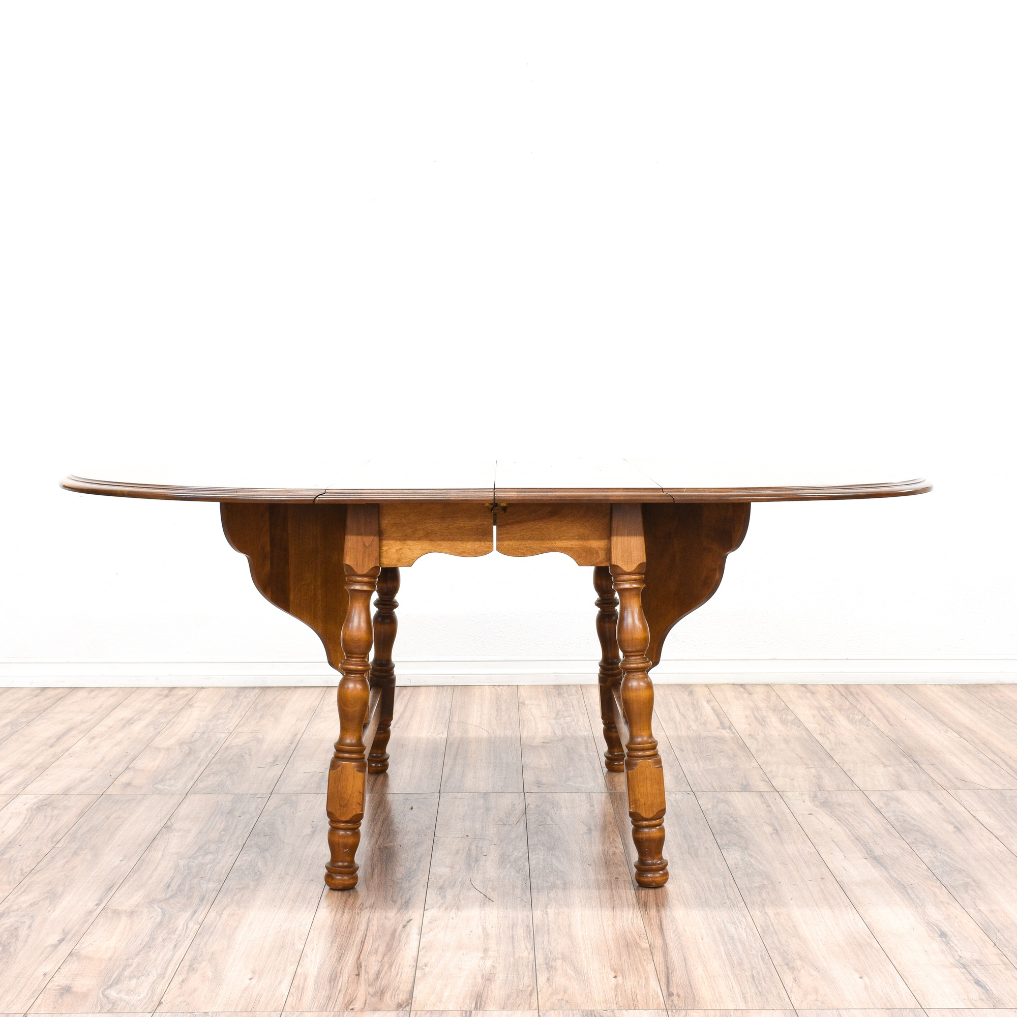 Country Chic Maple Drop Leaf Dining Table Loveseat
