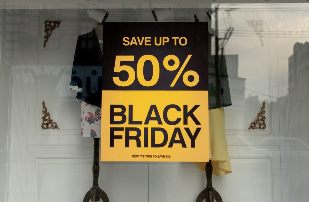 Black Friday sale shop window