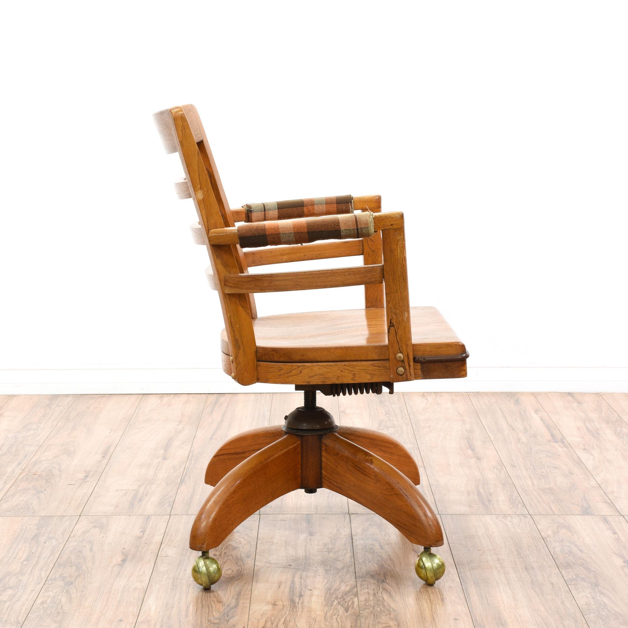 Traditional Oak Office Desk Chair