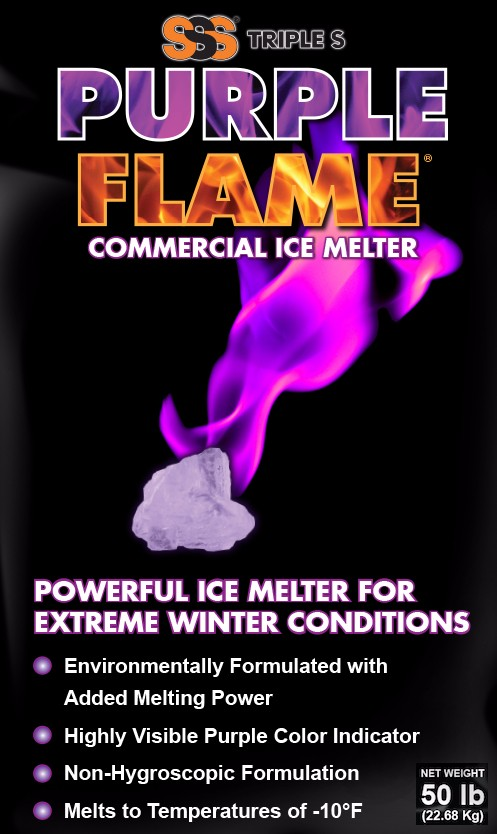 Triple-S Purple Flame Ice Melter 50lb Bag`