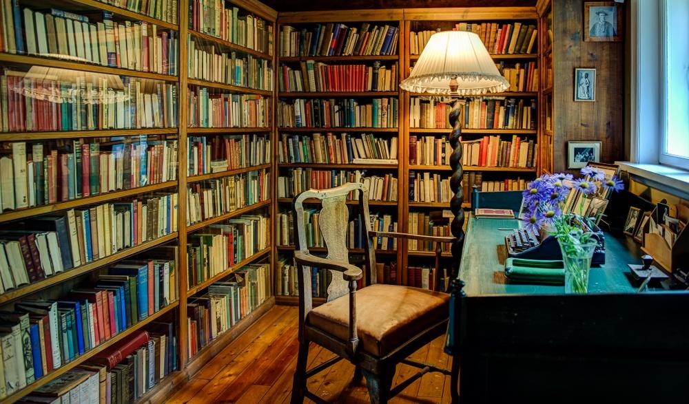 Sigrid Undsets skriveplass på Bjerkebæk. Foto: Ian Brodie