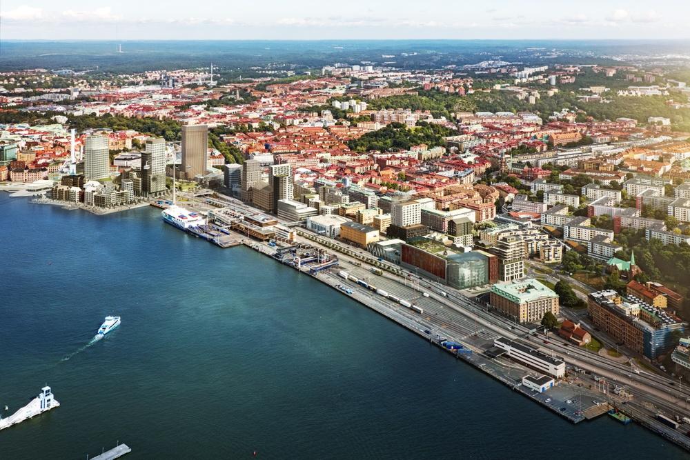 Masthuggskajen i Göteborg, vision av Kanozi Arkitekter.