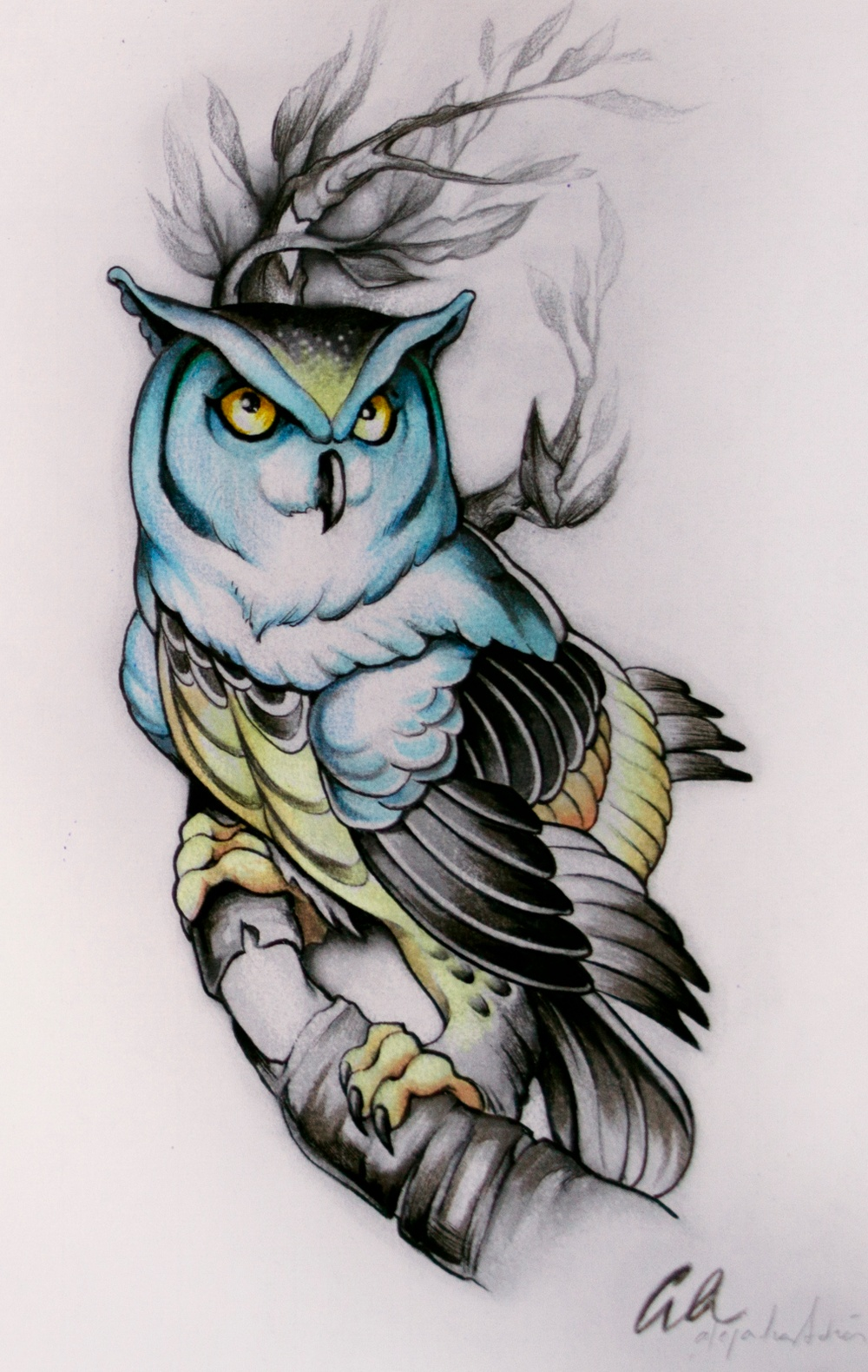Illustration: Alejandra Andres, tatuerare i Barcelona