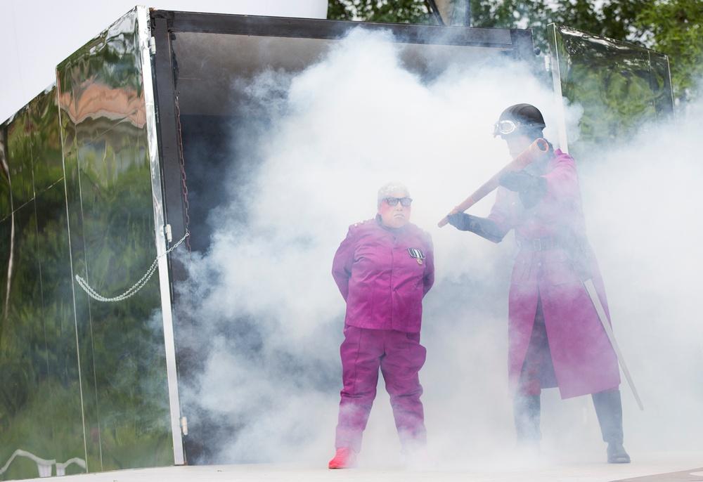 Bröderna Lejonhjärta, sommarteater i Skellefteå. Föreställningsbild från sommaren 2018. Foto: Patrick Degerman.