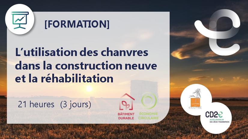 Représentation de la formation : L'utilisation des chanvres dans la construction neuve et la Réhabilitation