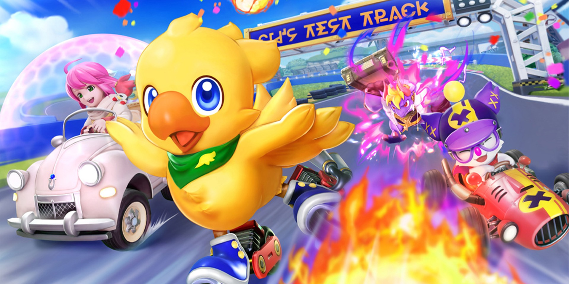 Hit the race track with your favorite Final Fantasy characters on Chocobo GP