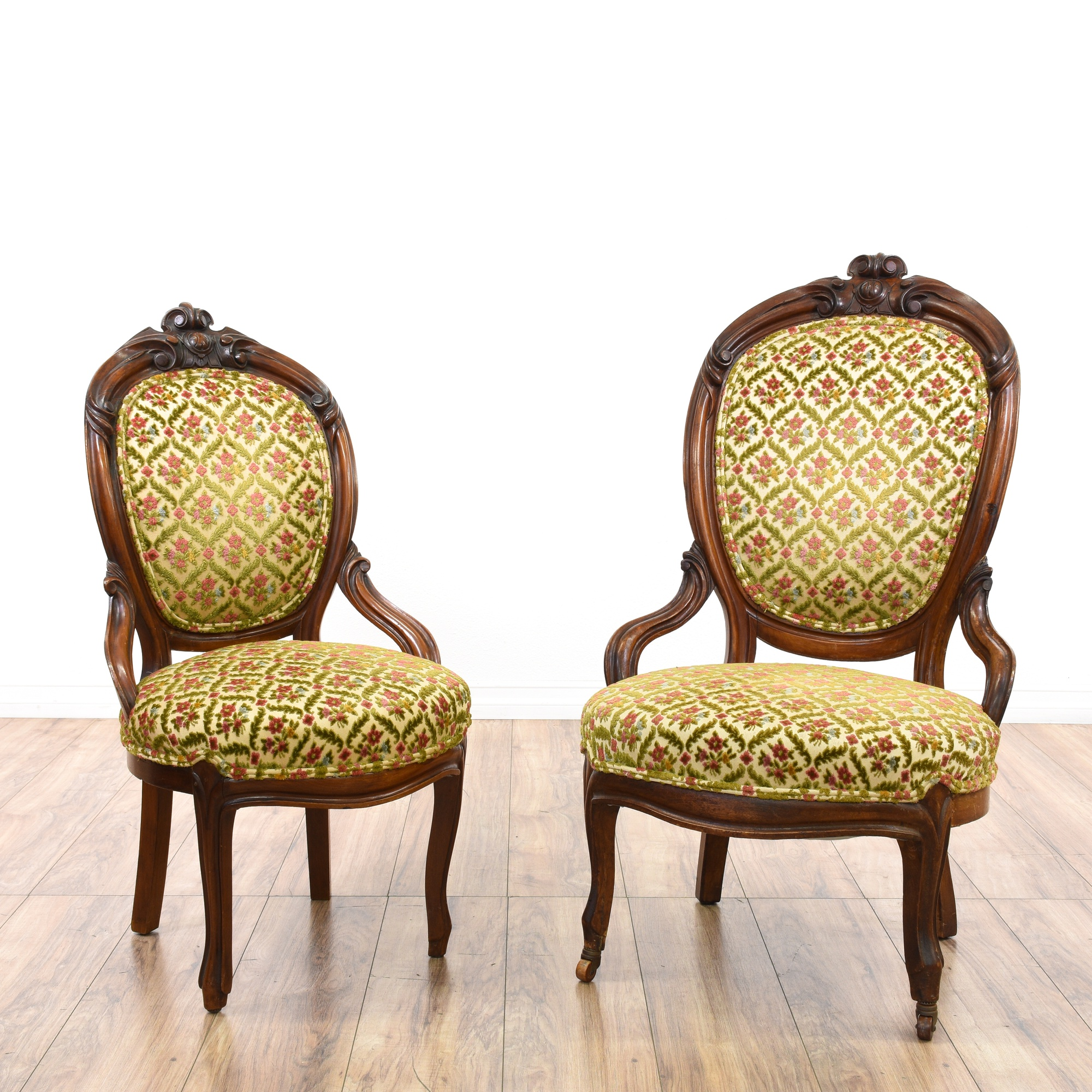 Pair of Victorian Upholstered Chairs